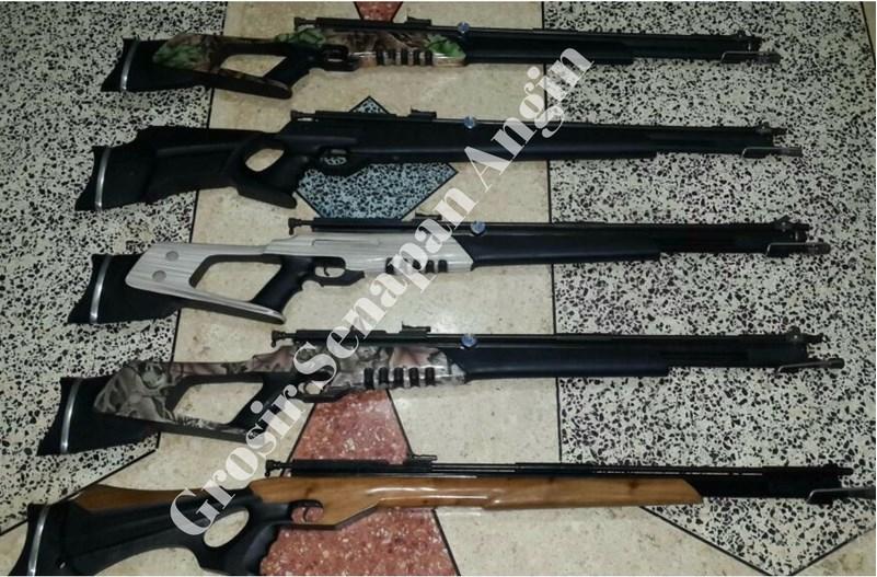 senapan gejluk dual power laras baja